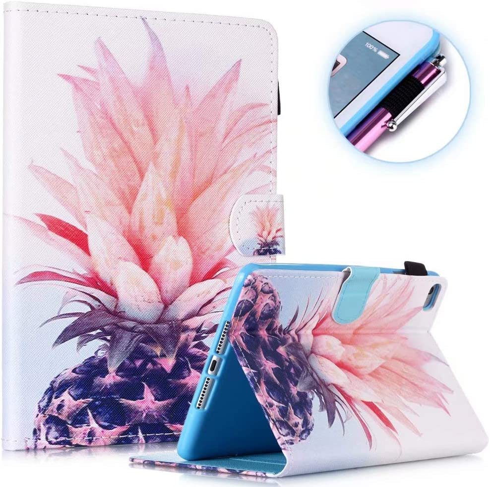 Fancity iPad 8th Generation Case (10.2 inch 2020 Release), iPad 7th Generation 2019 Case, Smart Wake Sleep Stand Cover with Pencil Holder for iPad 10.2 8th 7th Gen/Air 3, Pineapple