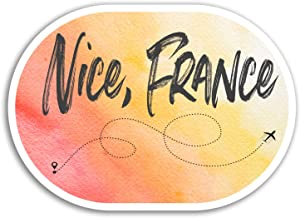 2 x 10cm Nice France Vinyl Stickers - Cool Travel Sticker Luggage Laptop #17930 (10cm Wide)
