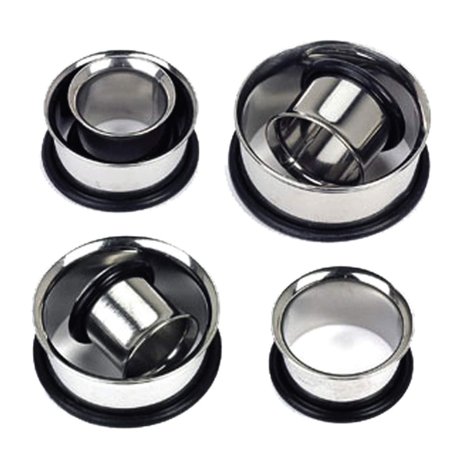 Plugs Kit 00G-20mm Stainless Steel Plugs Stretching Kit (10mm-20mm) 12PC BodyJ4You PL6127