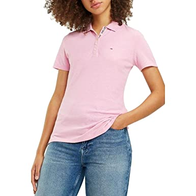 Tommy Jeans Polo Essential Rosa Mujer XS Rosa: Amazon.es: Ropa y ...