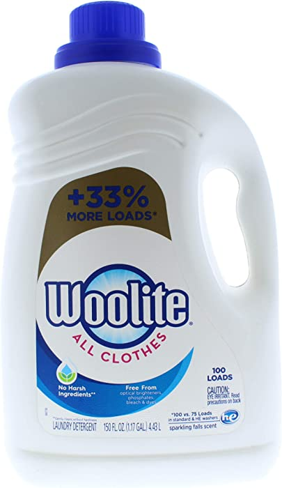 Woolite All Clothes 100 Loads, 150 FL OZ,Sparkling Falls Scent