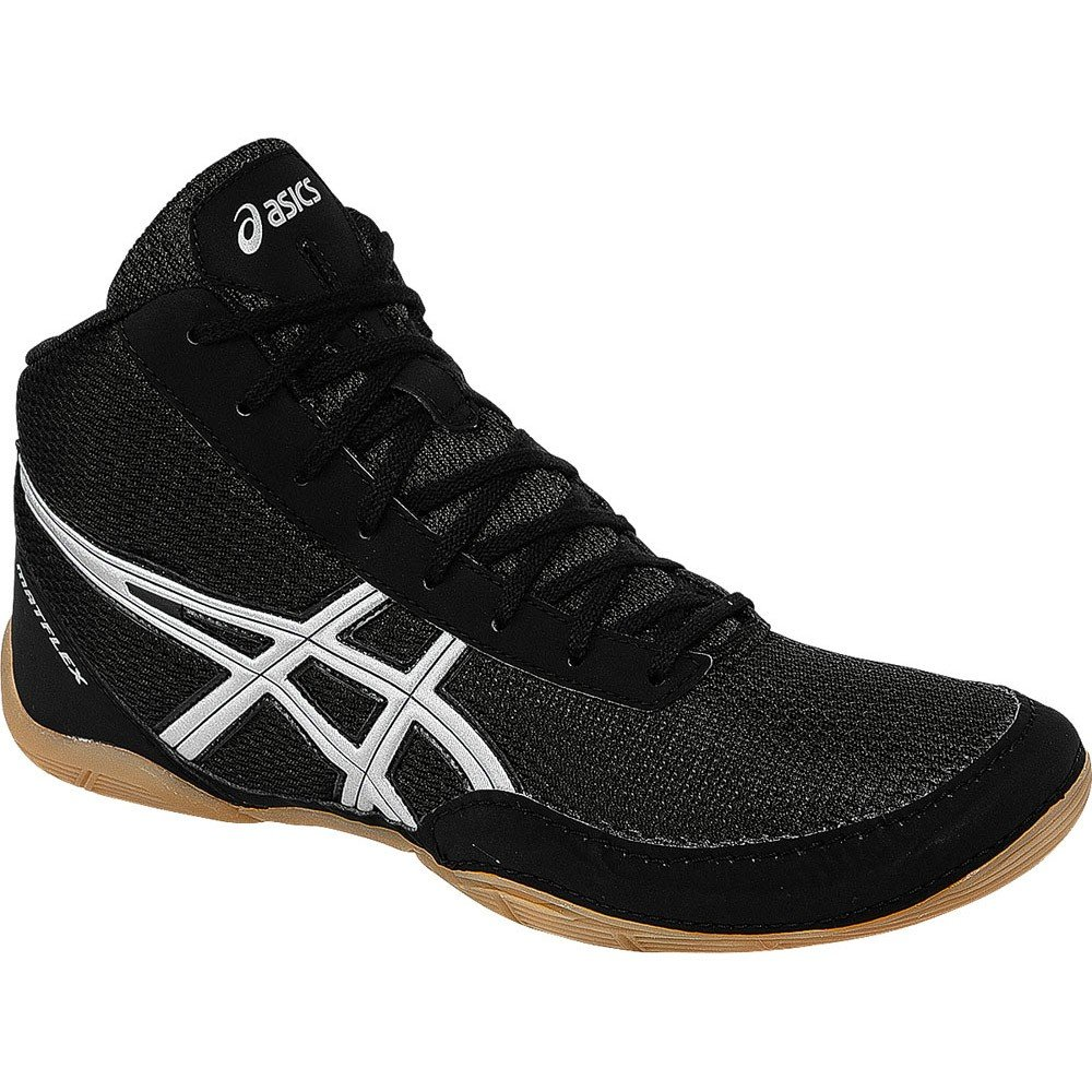 ASICS Matflex 5 GS Wrestling Shoe (Little Kid/Big Kid), Black/Silver, 10 M US Little Kid by ASICS