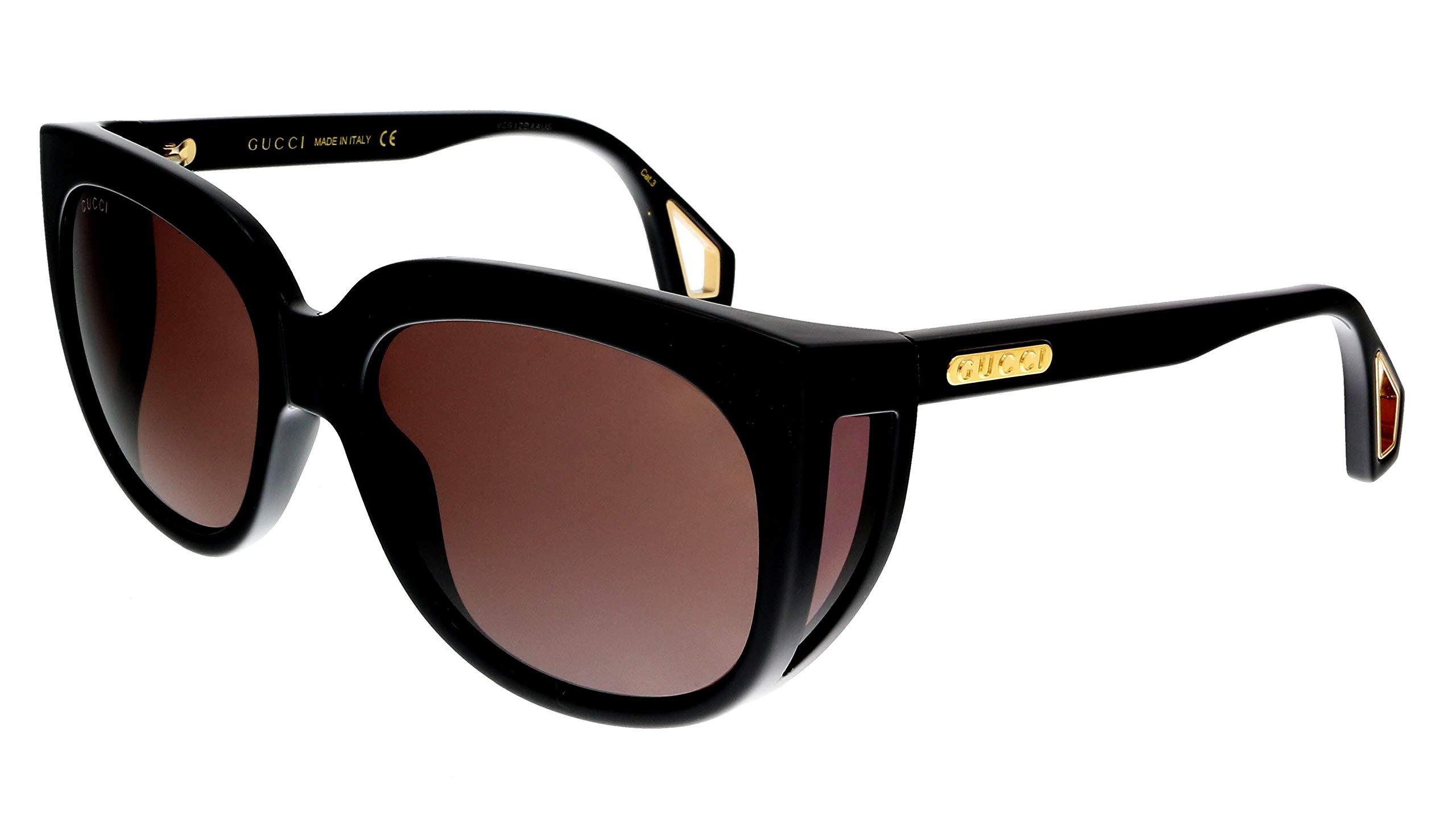 Sunglasses Gucci GG 0468 S- 001 BLACK/BROWN by Gucci