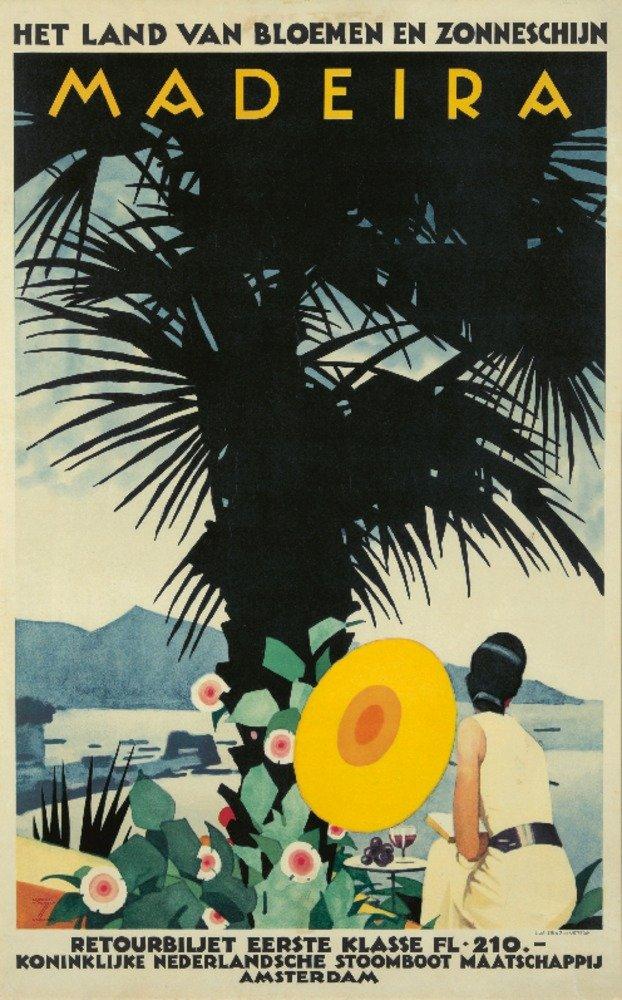 マデイラヴィンテージポスター(アーティスト: Hohlwein )ドイツC。1935 36 x 54 Giclee Print LANT-72739-36x54 36 x 54 Giclee Print  B01MPZZOMI