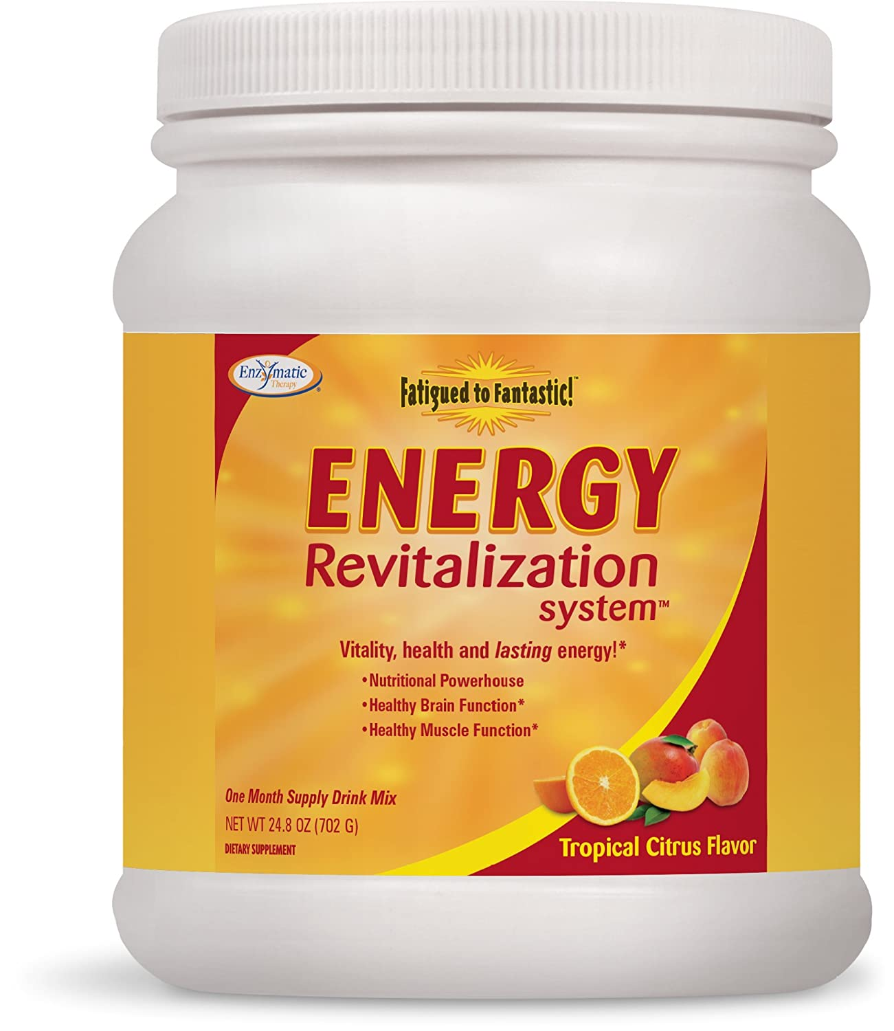 Enzymatic Therapy Fatigued to Fantastic Energy System, Tropical Citrus Flavored, 30 Day Supply