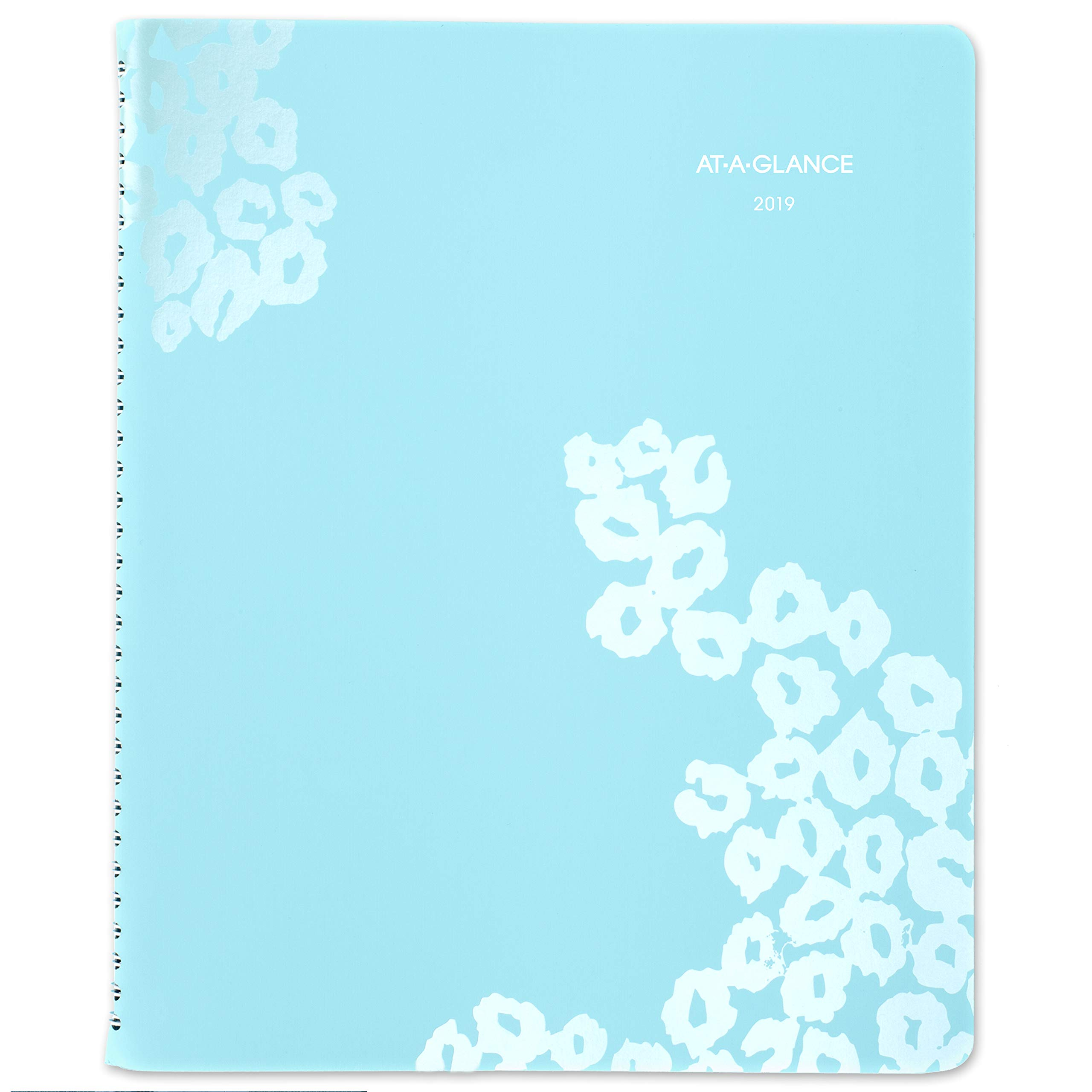 AT-A-GLANCE 2019 Weekly & Monthly Planner / Appointment Book, 8-1/2'' x 11'', Large, Wild Washes, Light Blue (523-905)
