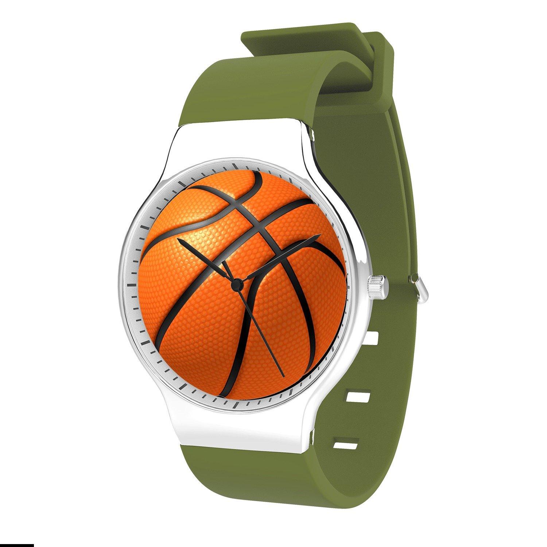 FELOOWSE Basketball Watch Men'S Quartz Watches, Minimalist Slim Japanese Quartz Youth Silicone Watches, Fashion PracticalWaterproof Boys Watch Customized Watches