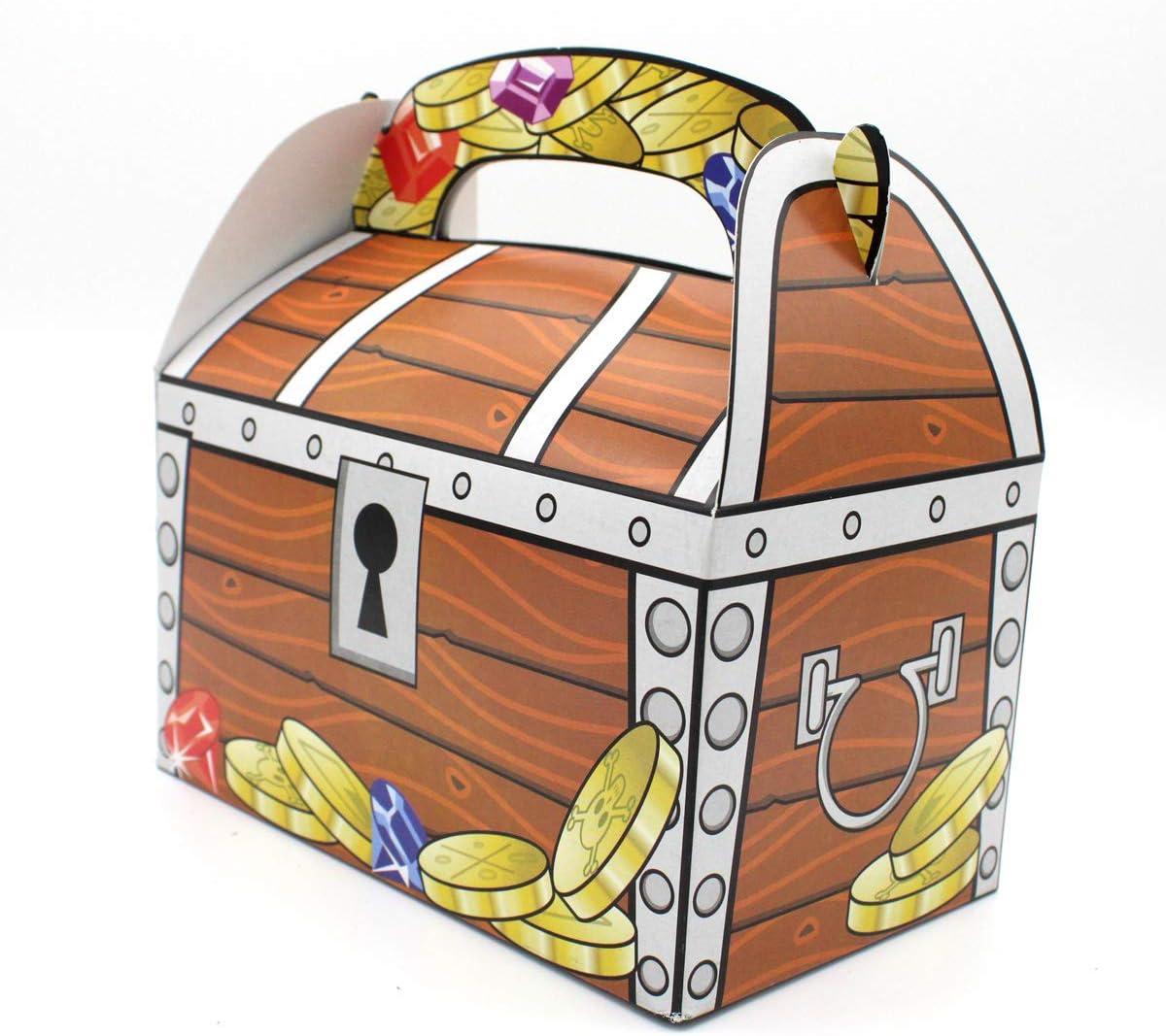 Caisse pour le tr/ésor des pirates 6 pi/èces en carton Bo/îte comme paquet cadeau ou pr/ésent Coffre /à tr/ésor