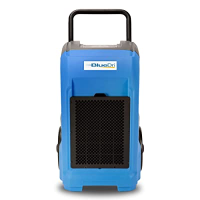 BlueDri BD-76 Commercial Dehumidifier for Home, Basements, Garages, and Job Sites. Industrial Water Damage Equipment - Pack of 1, Blue: Home Improvement