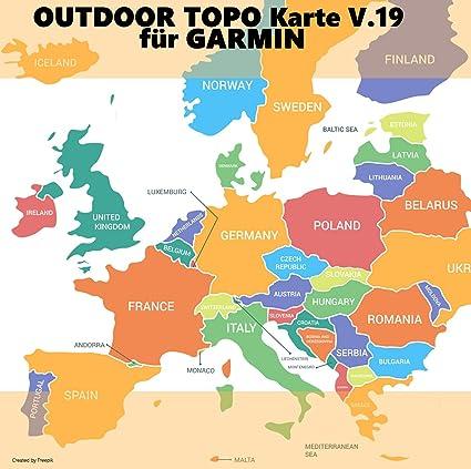 Europa V 19 Profi Outdoor Topo Karte Topografische