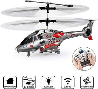 GoStock Elicottero RC 3.5 Canali per Interno Elicottero Telecomandato con Giroscopio e Luce LED Giocattolo per Aerei RC Regalo per Bambini e Adulti