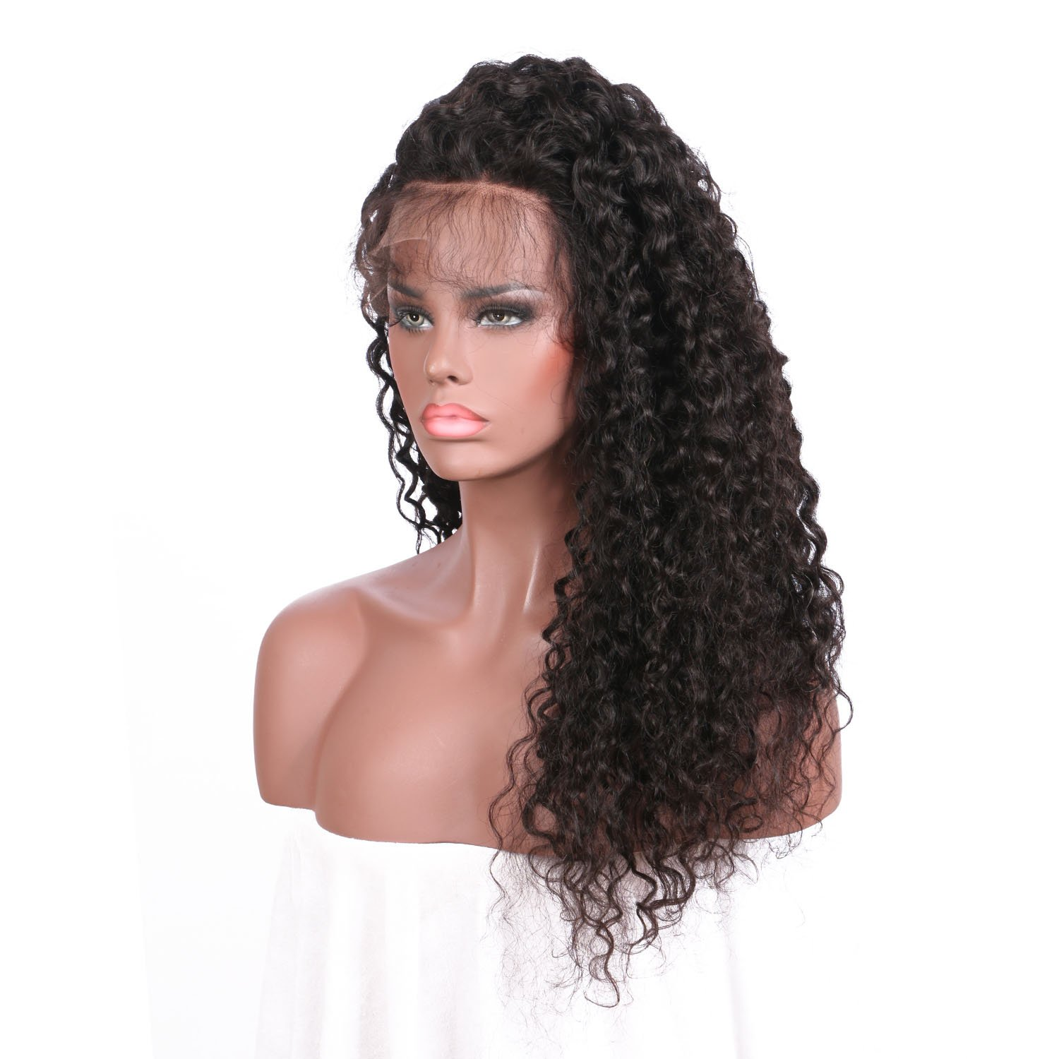 Lace Front Human Hair Wigs Deep Wave Curl Full Lace Human Hair Wigs For Black Women 8A Pre Plucked 130% Brazilian Lace Front Wigs (22 Inch Lace Front Wig) by Dream Beauty (Image #3)