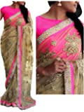 Namstey Fashion Women's Net Saree With Blouse Piece (Nf-589_Multicolor)