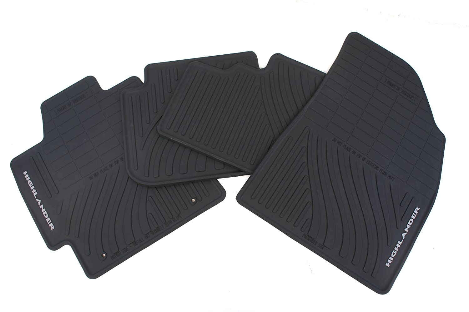 Set of 4 Genuine Toyota Accessories PT908-48G00-02 Front and Rear All-Weather Floor Mat - Black
