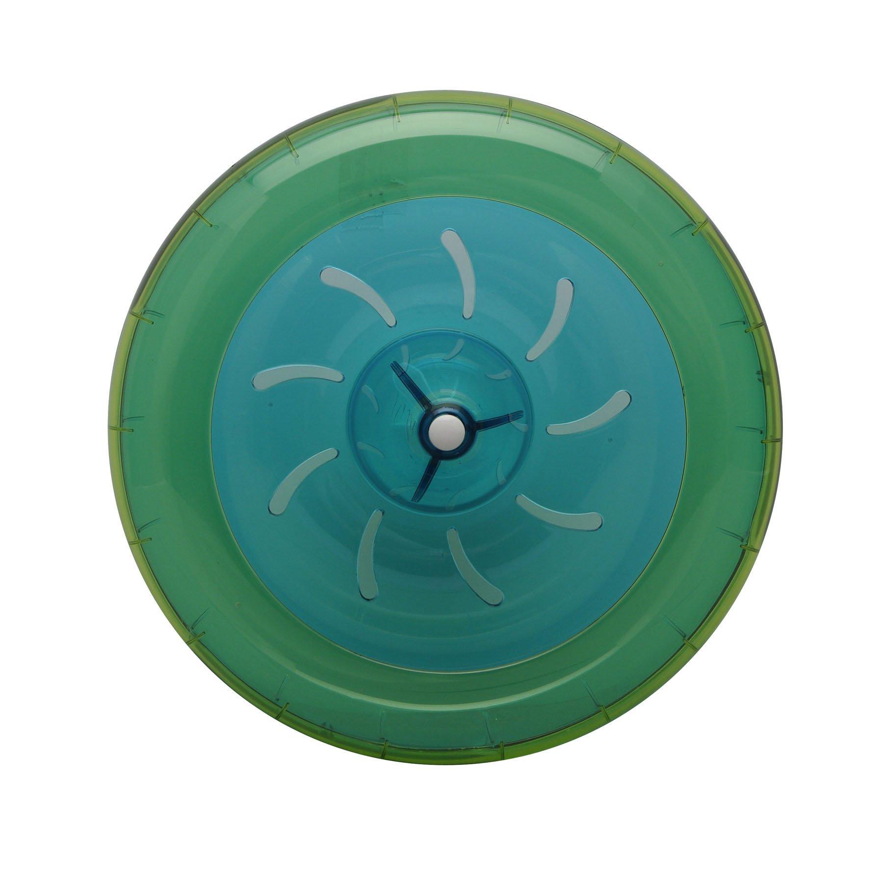 Habitrail OVO Wheel for Dwarf Hamster Habitat, Lime Green/Blue