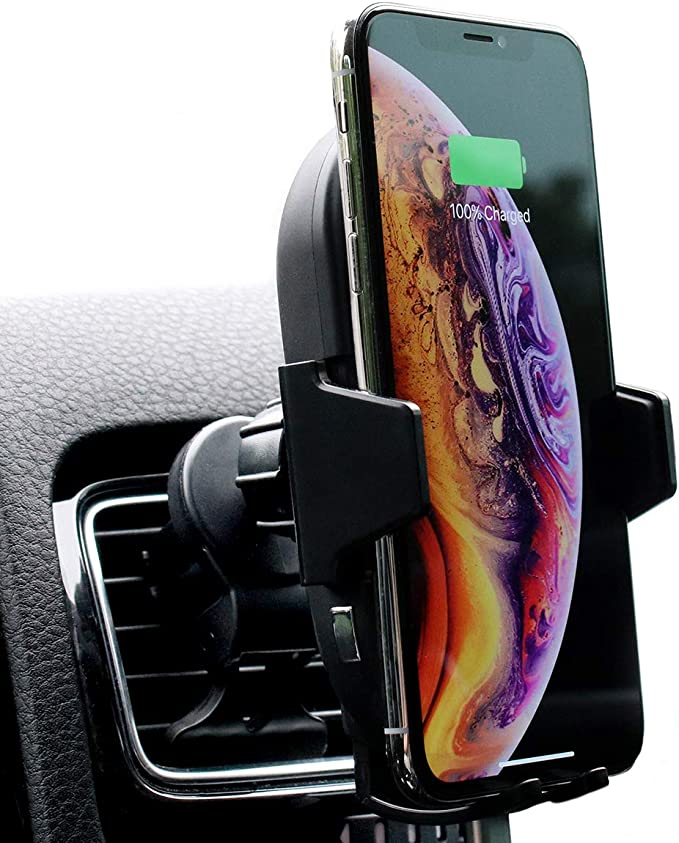Bolt Car Mount and Qi Fast Wireless Charger with Auto Sense