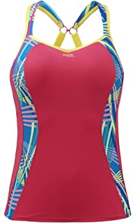 Panache 7345 Ultimate Sports Running Bra Vest Top in Black Geo Print