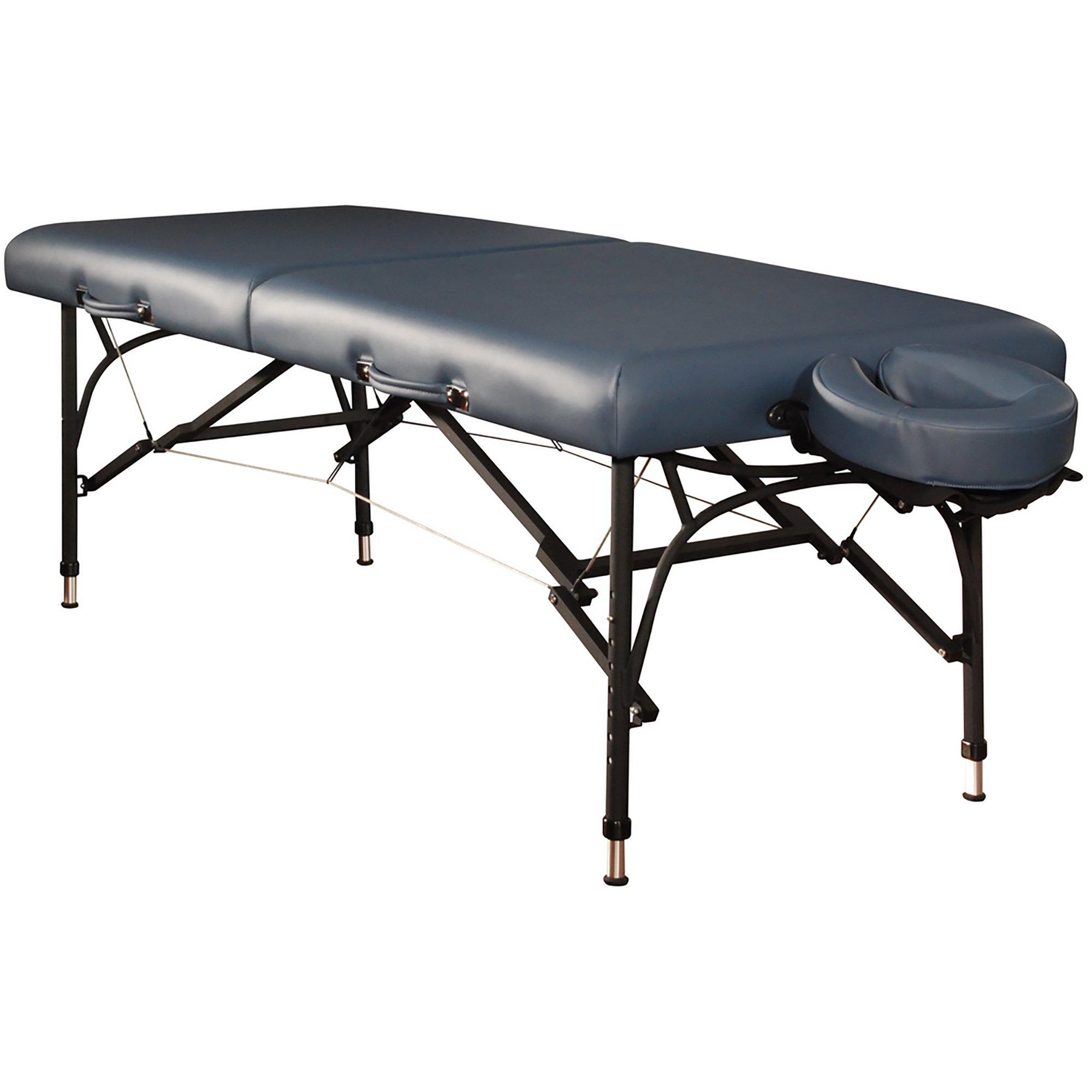 Mt Massage 28'' Violet Light Weight Aluminum Portable Massage Table Package(Agate Blue)