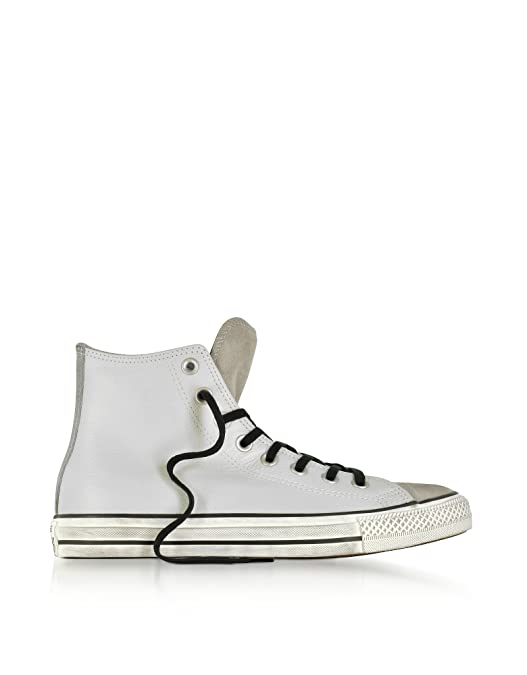 Converse Herren 158965C Grau Leder Hi Top Sneakers