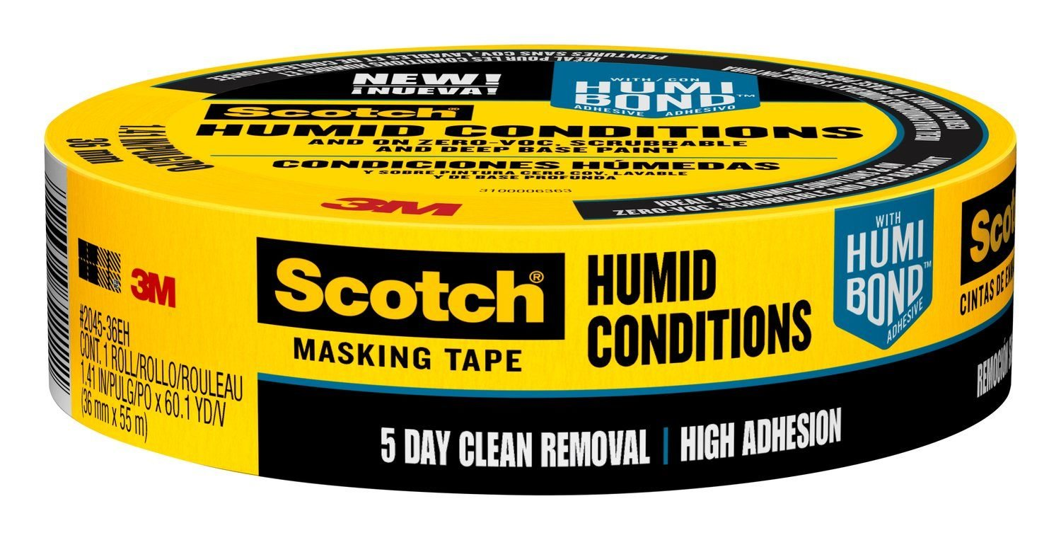 Scotch Masking Tape for Humid Conditions, 2045-36EH, 1.41-Inch by 60.1-Yards, 1 Roll