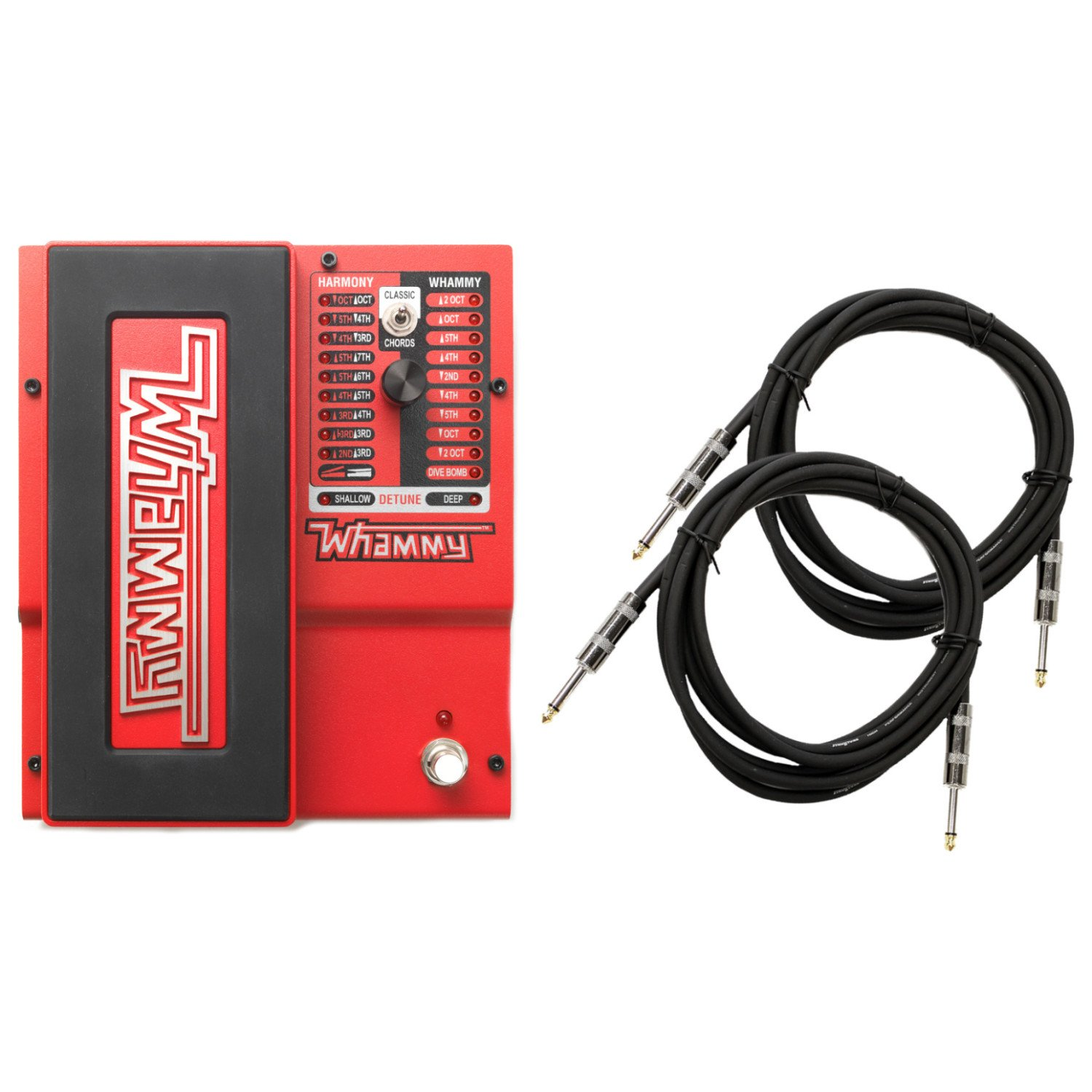 Digitech Whammy 5 Multi-Effects Pedal Bundle with 2 Cables and Power Supply