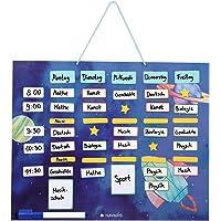 Navaris Horario magnético para niños - Planificador Organizador para la Nevera o Pared - Pizarra para planificar…