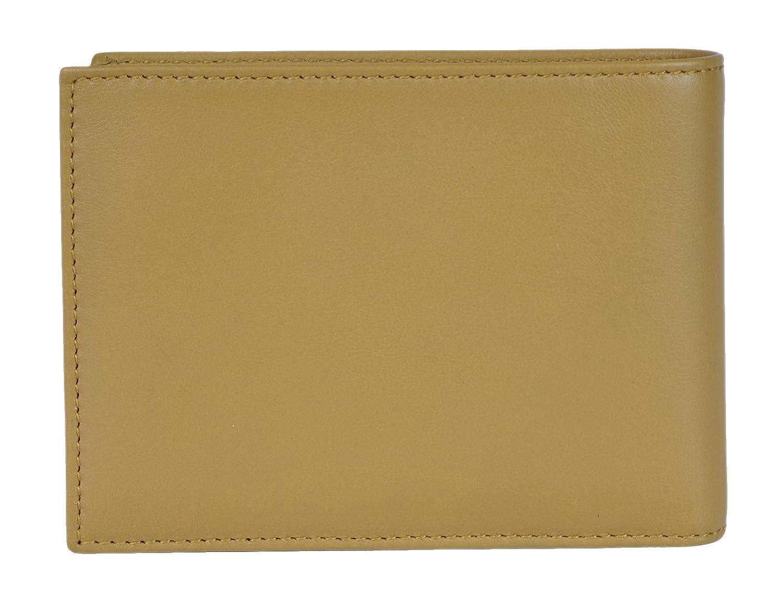7896934dd3b Amazon.com  Gucci Men s Leather Bi-fold Wallet 278596 2608 Light Olive   Clothing