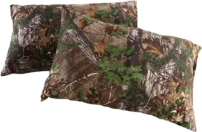 Realtree Pillow Case Xtra Green Camo Design 30 X 20 Inches Standard Size Camouflage Pillow Case Double Sided Print Polyester Microfiber 2 Pack Home Kitchen Amazon Com