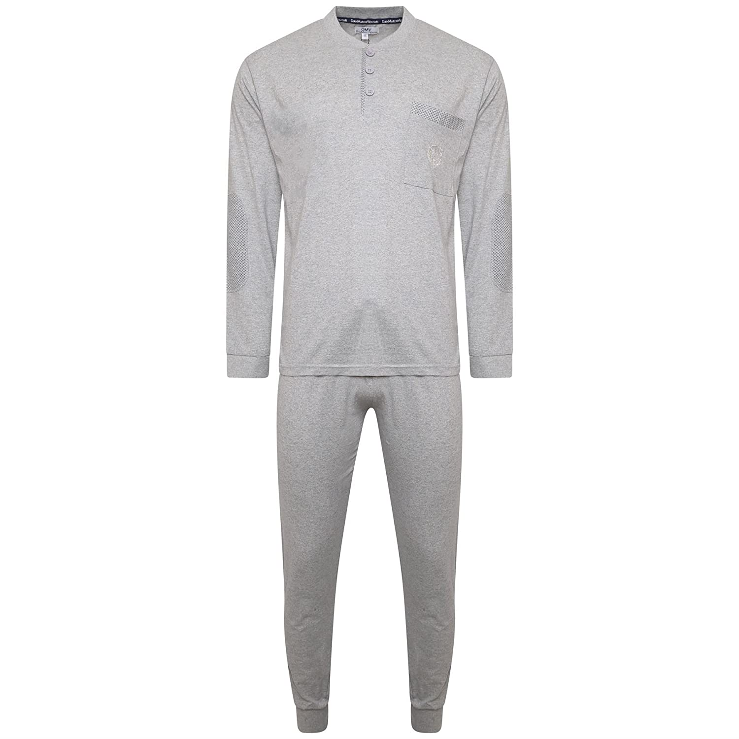 New Mens 100% Cotton Pyjamas Pjs Loungewear Set Nightwear Longsleeve Top & Pant Style It Up