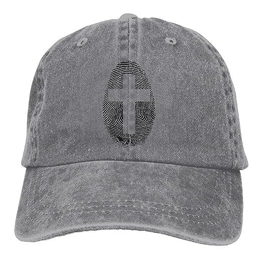 OHMYCOLOR Cross Fingerprint Denim Adjustable Baseball Caps For Mens Womens  Unusual Hip Hop Trucker Hats Snapback f7a73bce7c
