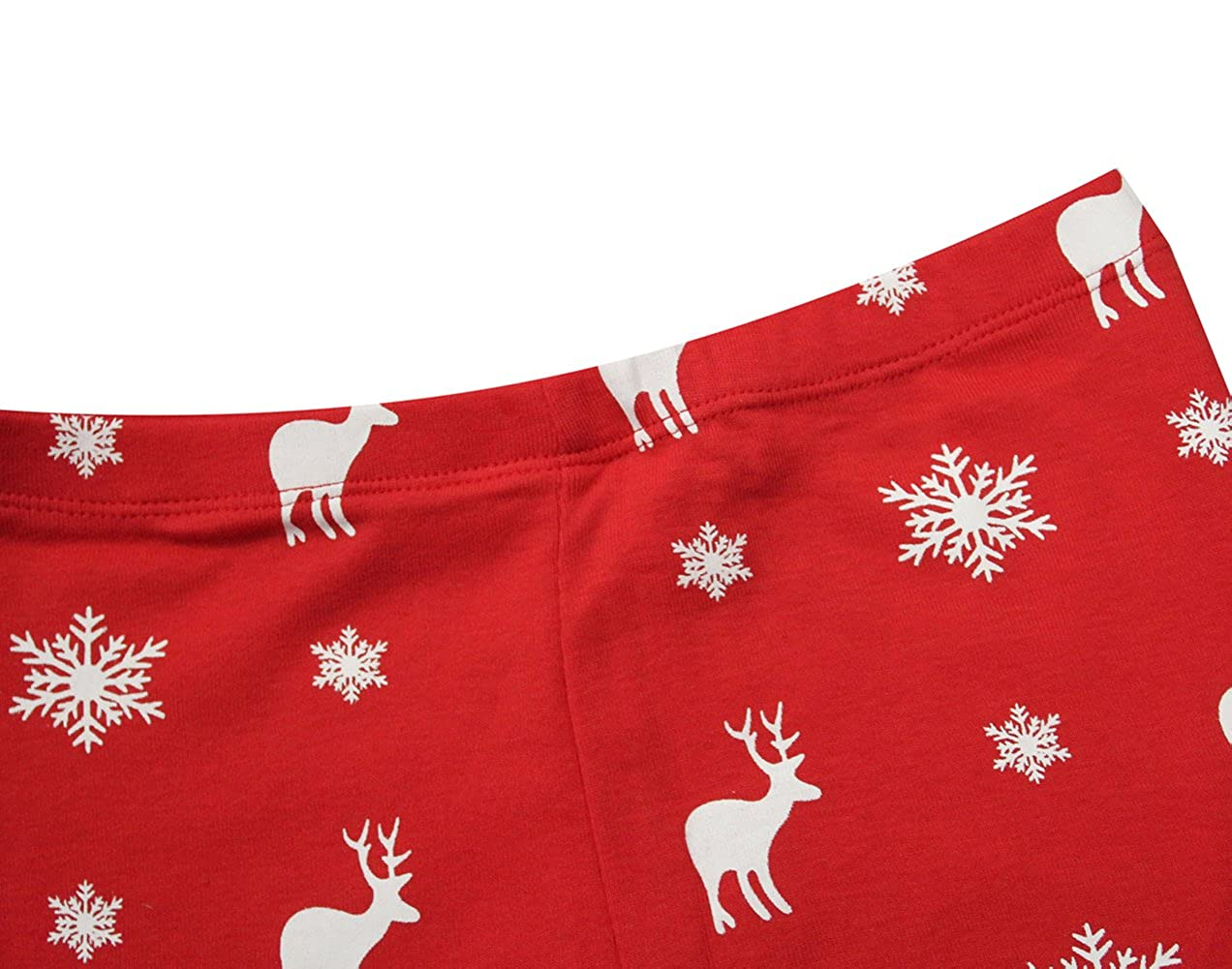 TinaLuLing Merry Christmas Baby Girls Pajamas Sets Kids Christmas Pajamas Red Xmas Pyjamas