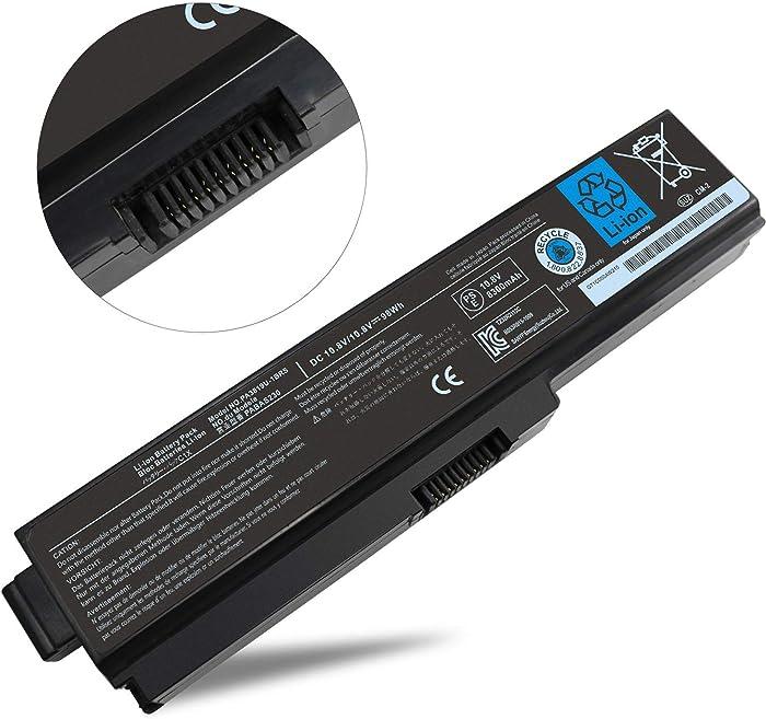 NOCCI 12-Cell New Li-ion Laptop Battery for Toshiba PA3819U-1BRS PA3817U-1BRS Satellite A665 A665-S5170 A665-S6050 A665-S6086 M505-S4940 M645-S4050 M645-S4070 L645 L755-S5277 L775D-S7222 P745-S4102