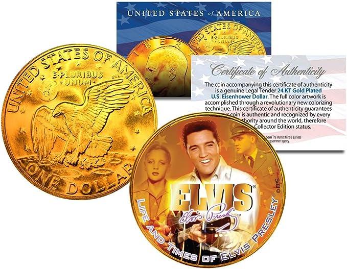 4 EISENHOWER IKE DOLLAR *Moon Landing of Apollo 11*24 KT GOLD PLATED*IN CAPSULE