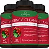Premium Kidney Cleanse Supplement - Powerful Kidney Support Formula with Cranberry Extract Helps Support Healthy Kidneys & Urinary Tract Support- 60 Vegetarian Capsules
