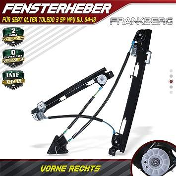 OHNE MOTOR VORNE RECHTS FÜR SEAT ALTEA 04-09 FENSTERHEBER ELE