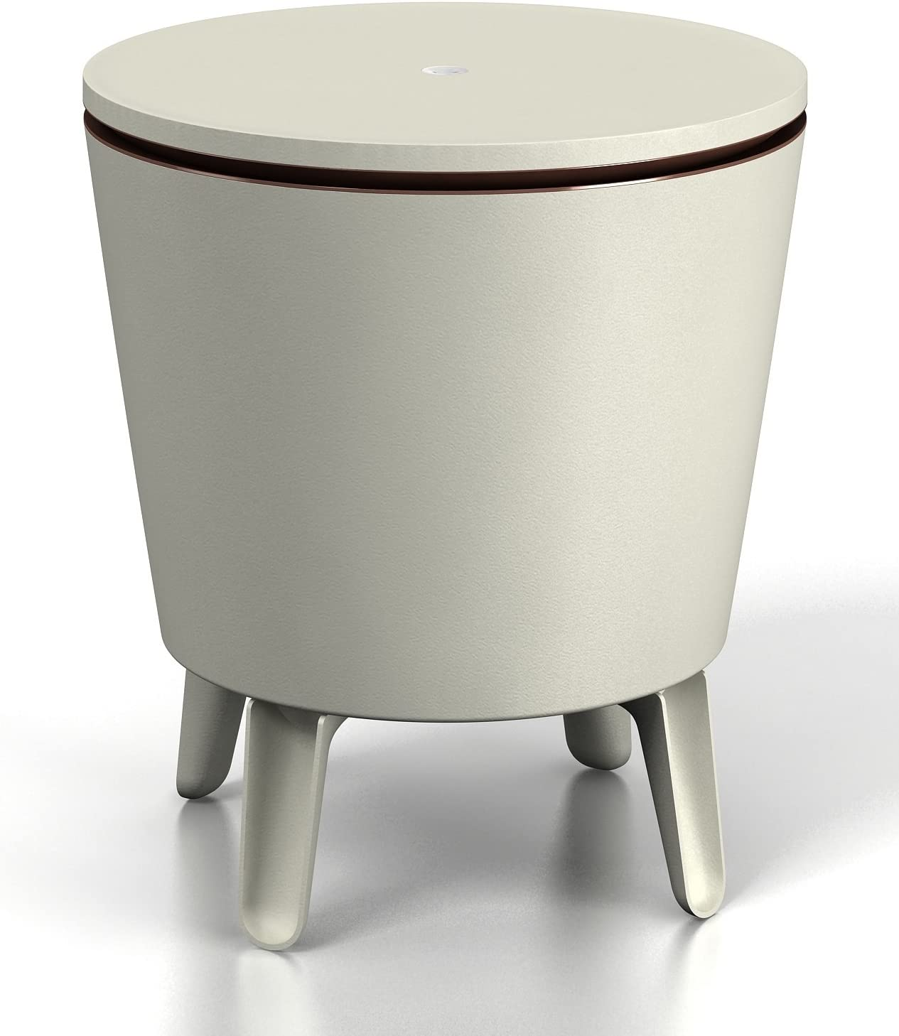 Keter Cool Bar Crema y Chocolate Mesa nevera para exterior, Blanco/marrón, 50x41x50 cm