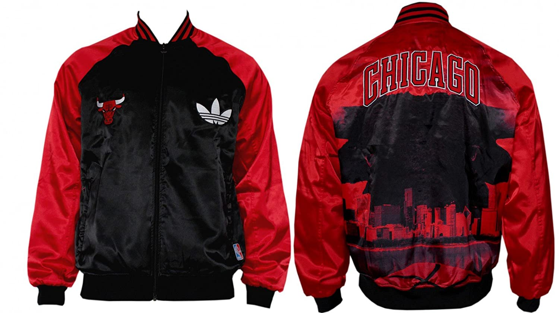 adidas M BULLS BOMBER Black Red Men Basketball Jacket NBA Chicago Bulls   Amazon.co.uk  Sports   Outdoors 3f20b4133f79