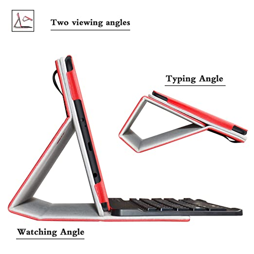 Amazon.com: Bige Slim Stand PU Leather Cover with Romovable ...
