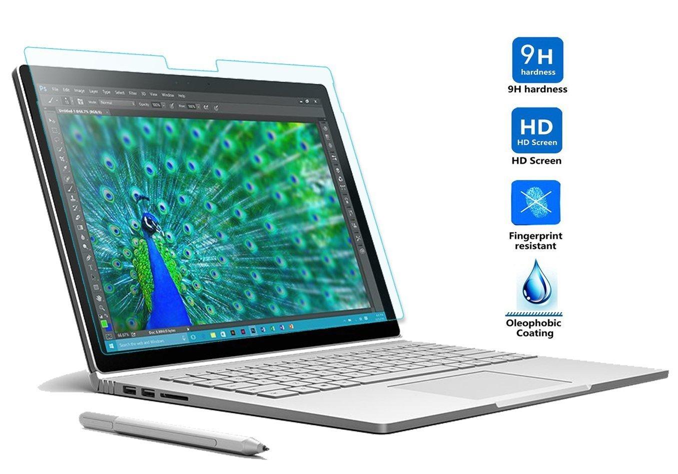 Eximtrade 13.5 Verre Tremp/é protecteur d/écran 9H Duret/é R/ésistant aux Rayures HD pour Microsoft Surface Book