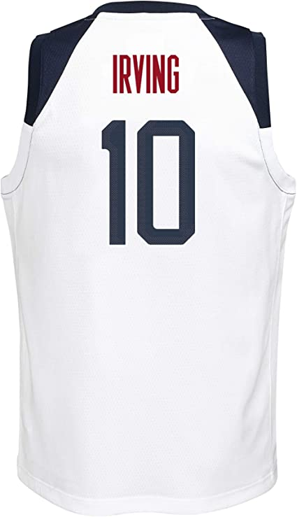 Outerstuff Team USA Basketball Kyrie Irving #10 Road Navy Swingman Jersey Youth Sizes
