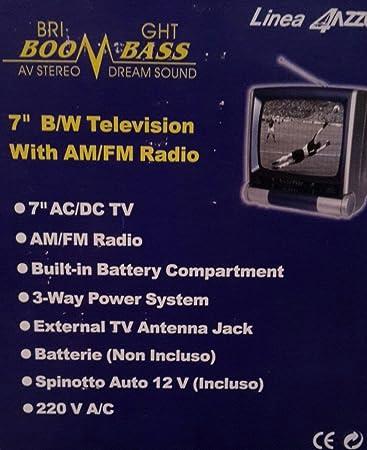 Mini televisor Blanco y Negro. TV Vintage.: Amazon.es: Electrónica