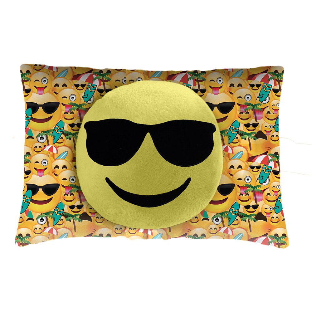 Pillow Pets Smiley's Sunglasses Face - Stuffed Animal Plush Toy