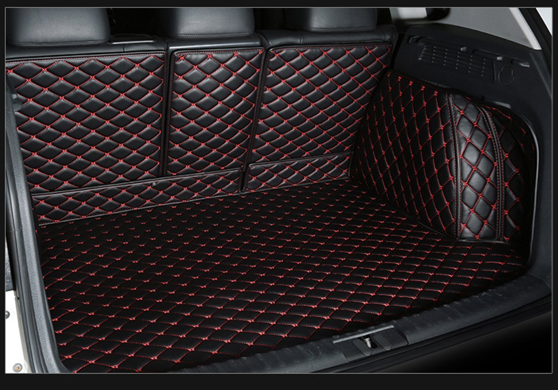 Black w// Black Stitching WillMaxMat Custom Fit Pet/&Dog Trunk Cargo Liner Floor Mat for Infiniti QX60