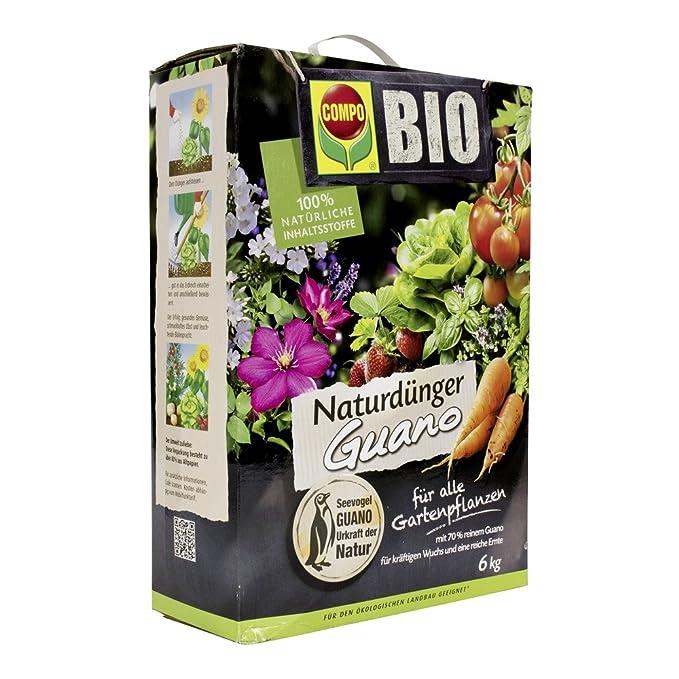 COMPO BIO Naturdünger Mit Guano Für Alle Gartenpflanzen, 6 Kg: Amazon.de:  Garten