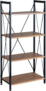 Amazon Com Coavas Folding Bookshelf Rack 4 Tiers Bookcase Home