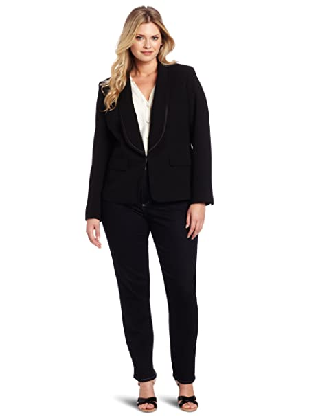 Amazon.com: Anne Klein PLUS-SIZE Tuxedo – Chaqueta de la ...
