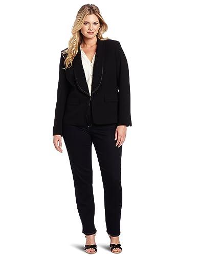 Amazon.com: Anne Klein PLUS-SIZE Tuxedo – Chaqueta de la ...