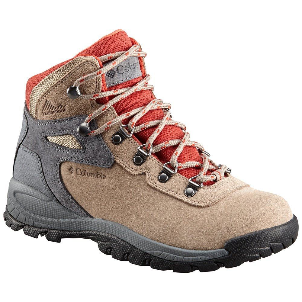 Columbia Women's Newton Ridge Plus Waterproof Amped Hiking Boot, Oxford Tan, Flame, 11 Regular US