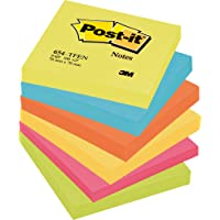Post-it 3M 654-TFEN Notes, 76 x 76 mm - Energetic Colours, 6 Pads (100 Sheets Per Pad)