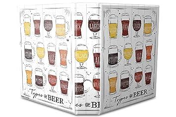Leotie GmbH Archivador A4 Carpeta 2 Anillas 60mm Impreso Tipos de Cerveza: Amazon.es: Hogar